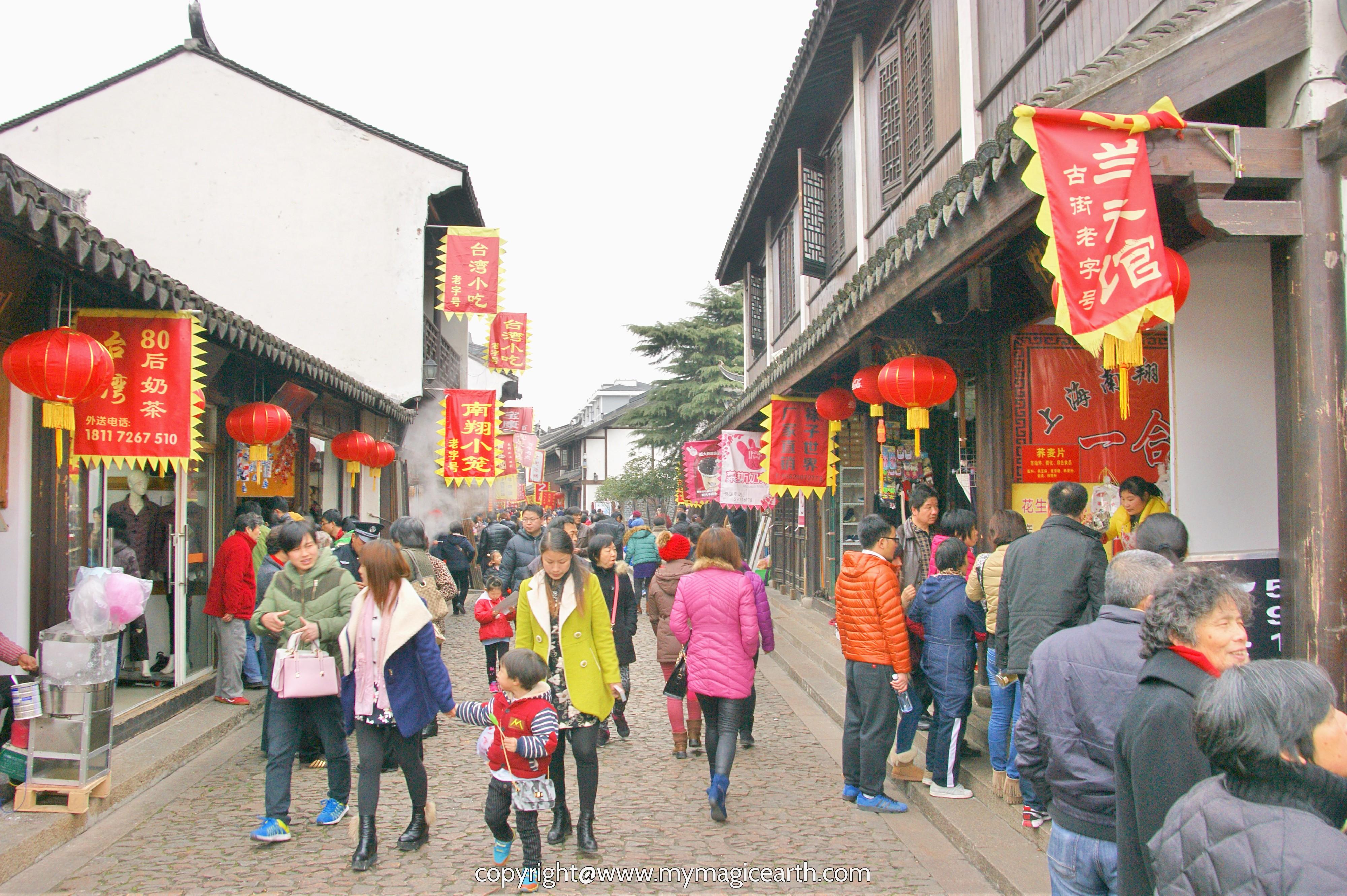 Street Scene During Chinese Spring Festival