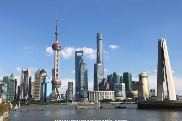 The view of the Waterfront in Shanghai, China