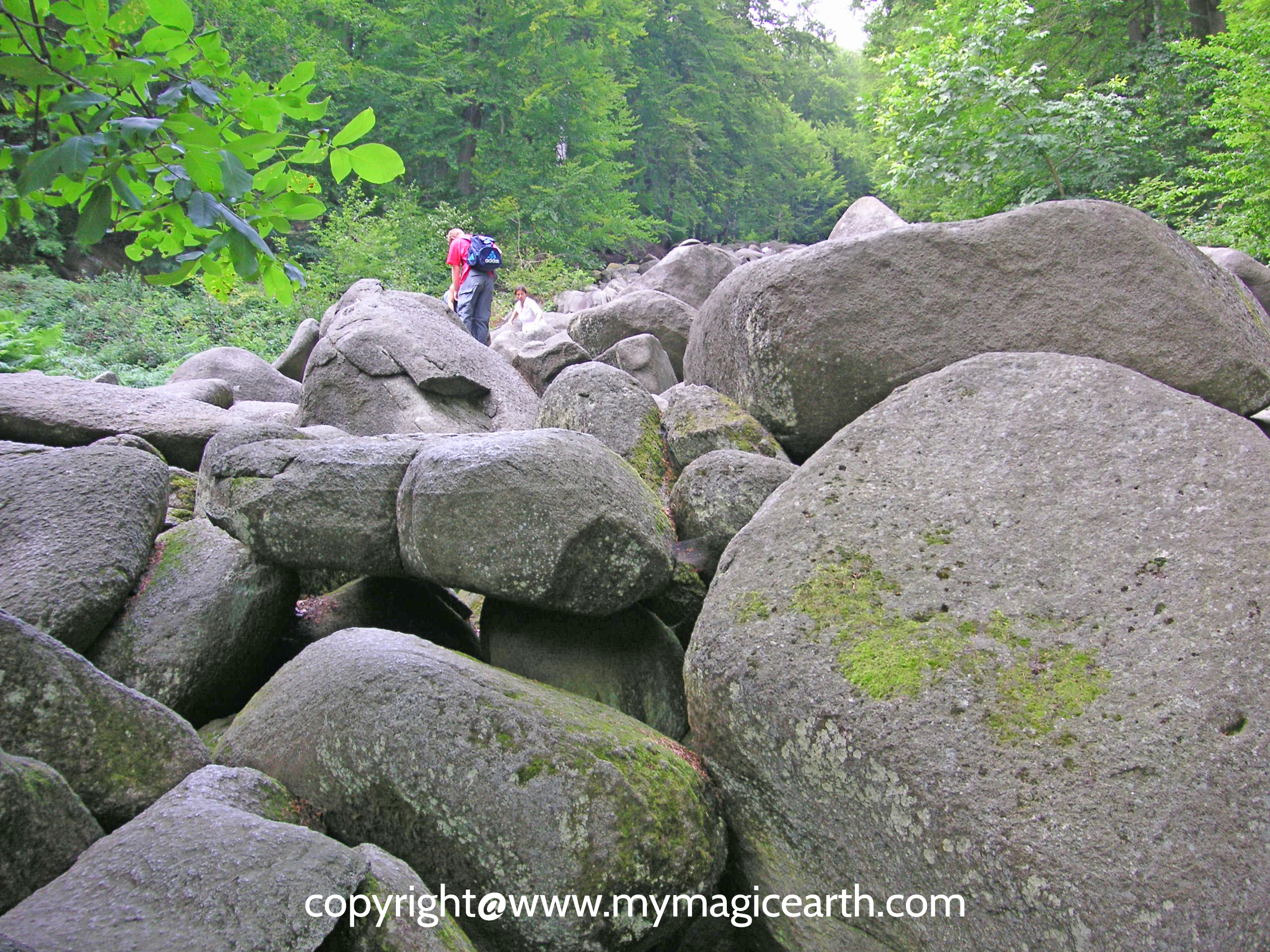 Felsenmeer (giant rocks in Odenwald, Germany)