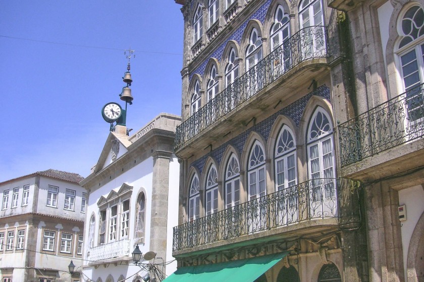 Imposing buildings in Valenca, Portugal