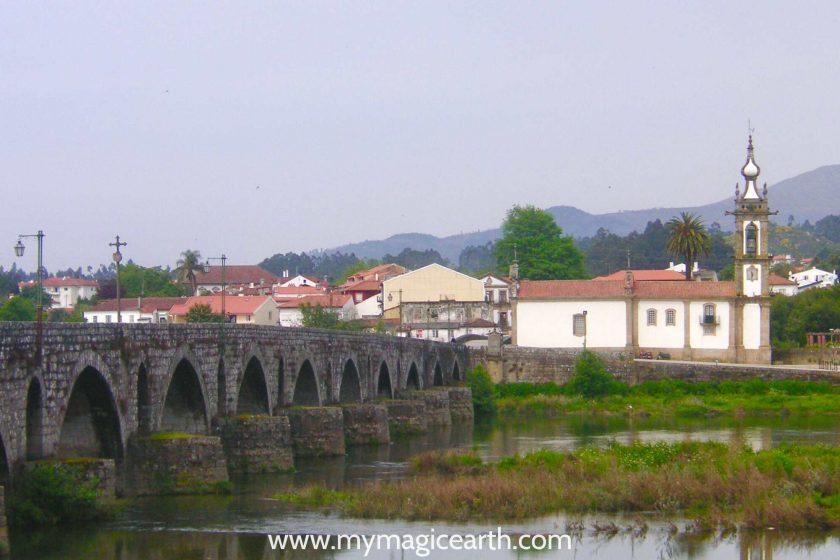 The old bridge in Ponte de Lima, Portugal
