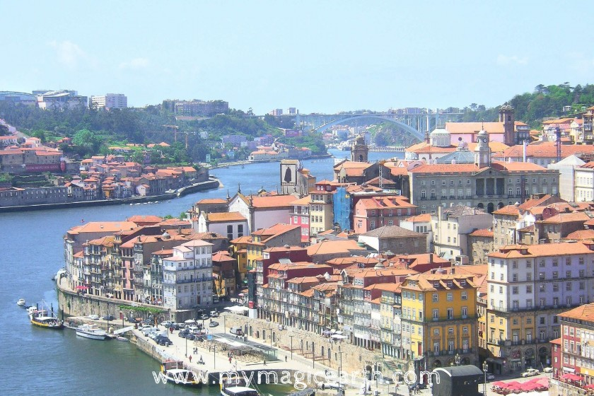 The colourful buildings in the historical centre, Porto