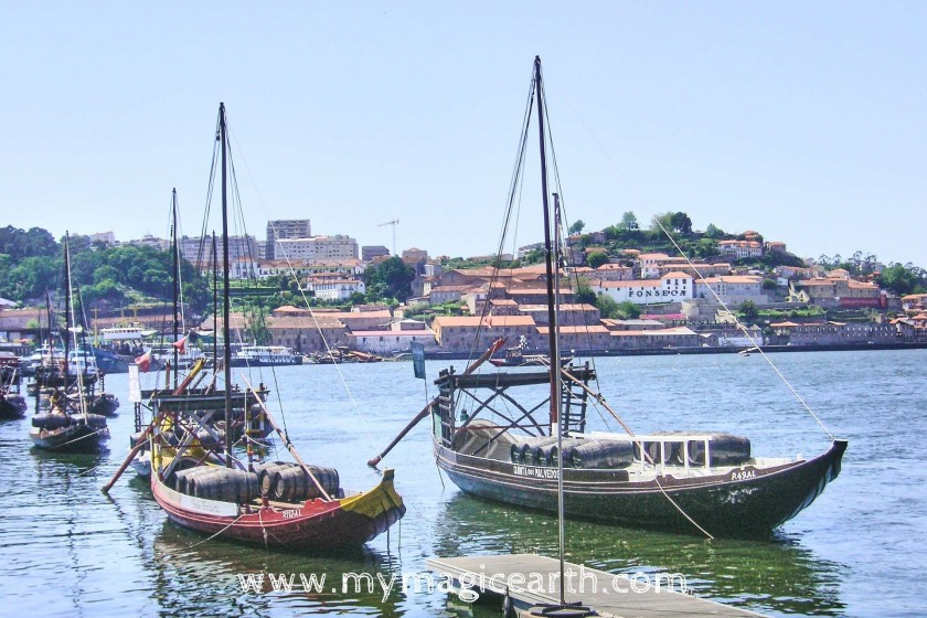 Port Wine Town, Rabelo boats, the traditional Portuguese wooden cargo boat