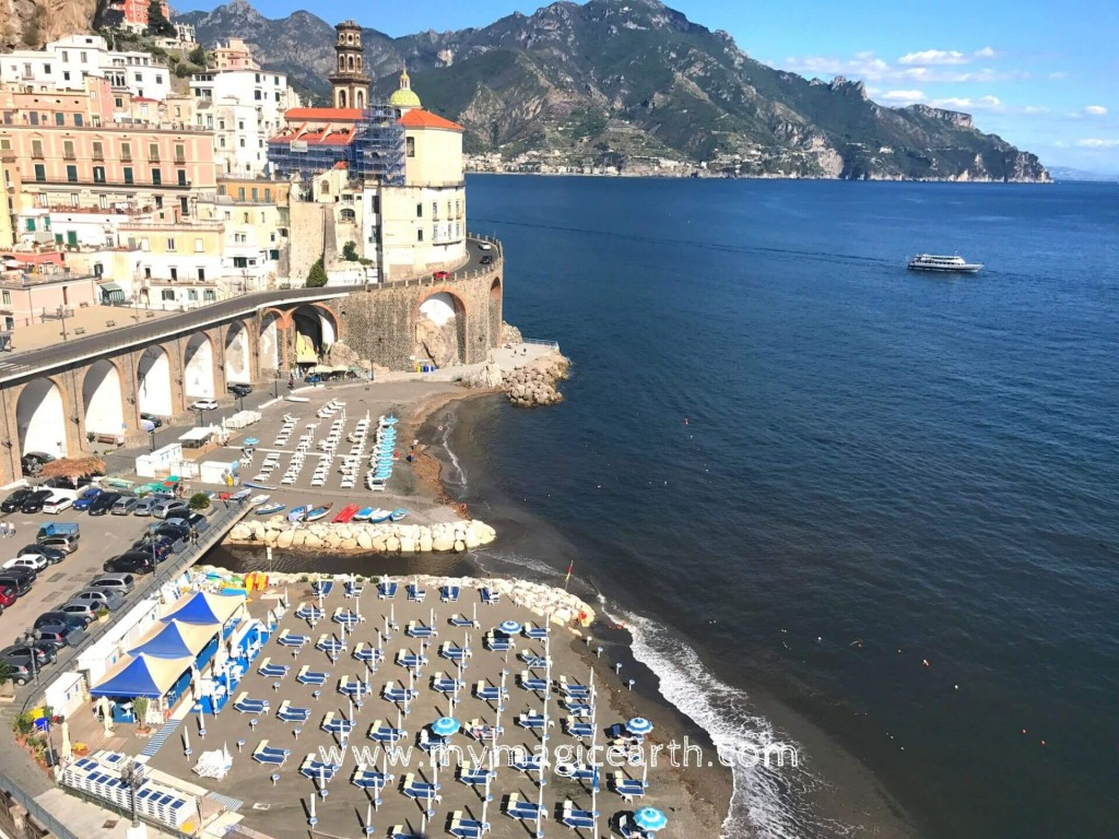 Italian beach club, Atrani beach
