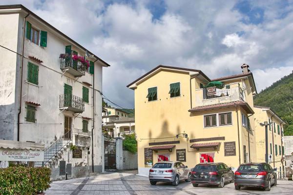 Market square in Colonnata, northern Tuscany