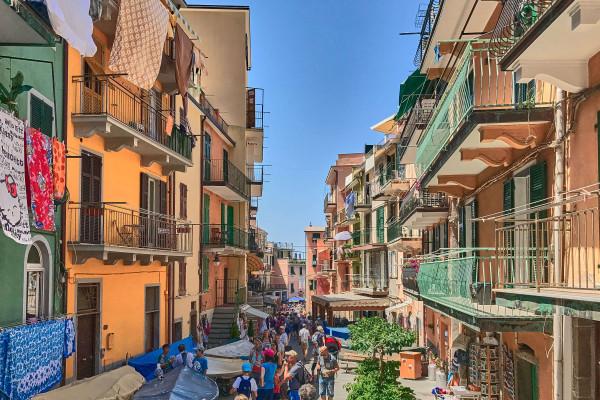 The main street of Manarola