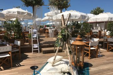 Private area within Nikki beach club house