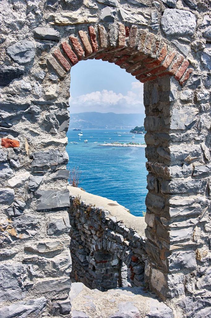 View of Ligurian sea, Italy