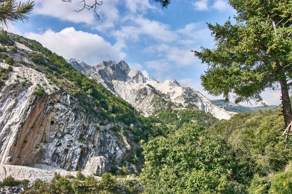 Carrar Marble Mountain, Tuscany summer itinerary