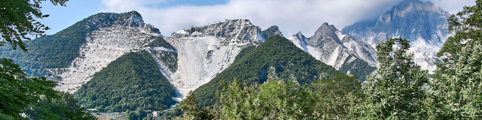 A gorgeous view of marble mountains along the marble route