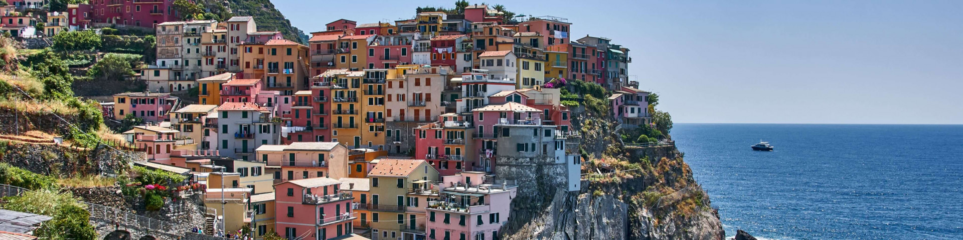 The colourful houses in Manarola, Cinque Terre