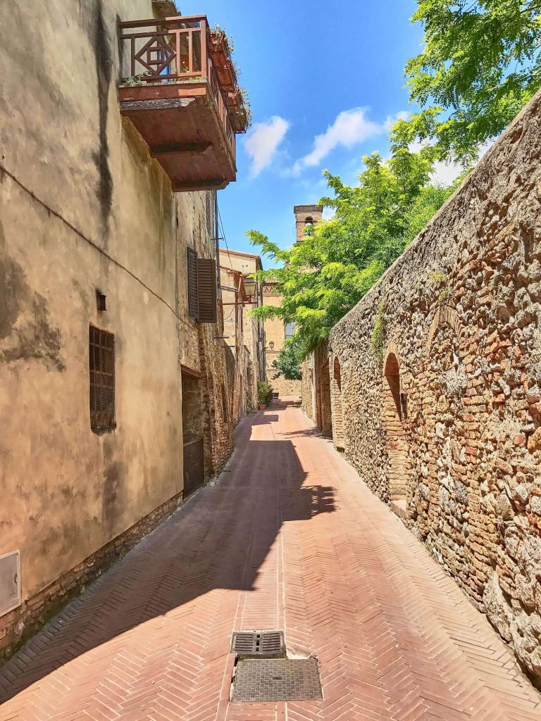 Backstreets in San Gimignano Tuscany Italy
