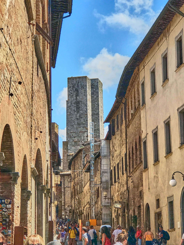 A perfect position to picture the towers in San Gimignano, Tuscany