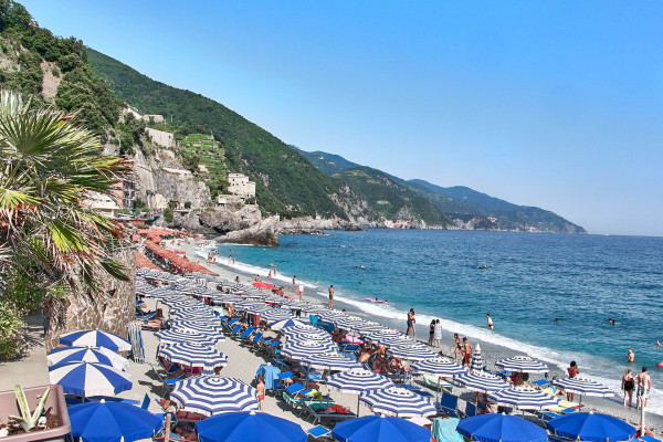 Monterosso beach from Cinque Terre