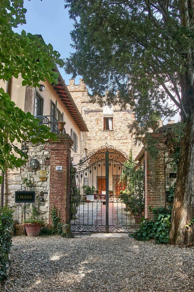 The Entrance of I Parigi Corbinelli Residenze, Tuscany
