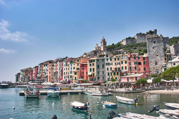 Corlourful buildings at Harbour front, Portovenere