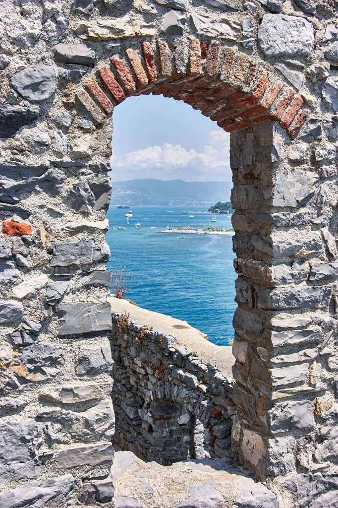 View of Ligurian sea, Italy