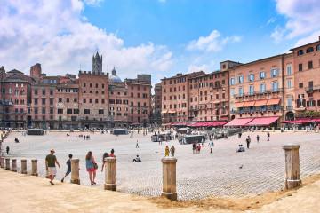 Piazza del Campo, the Europe's biggest square in Siena