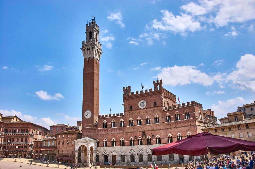 Torre del Mangia in Siena, Tuscany