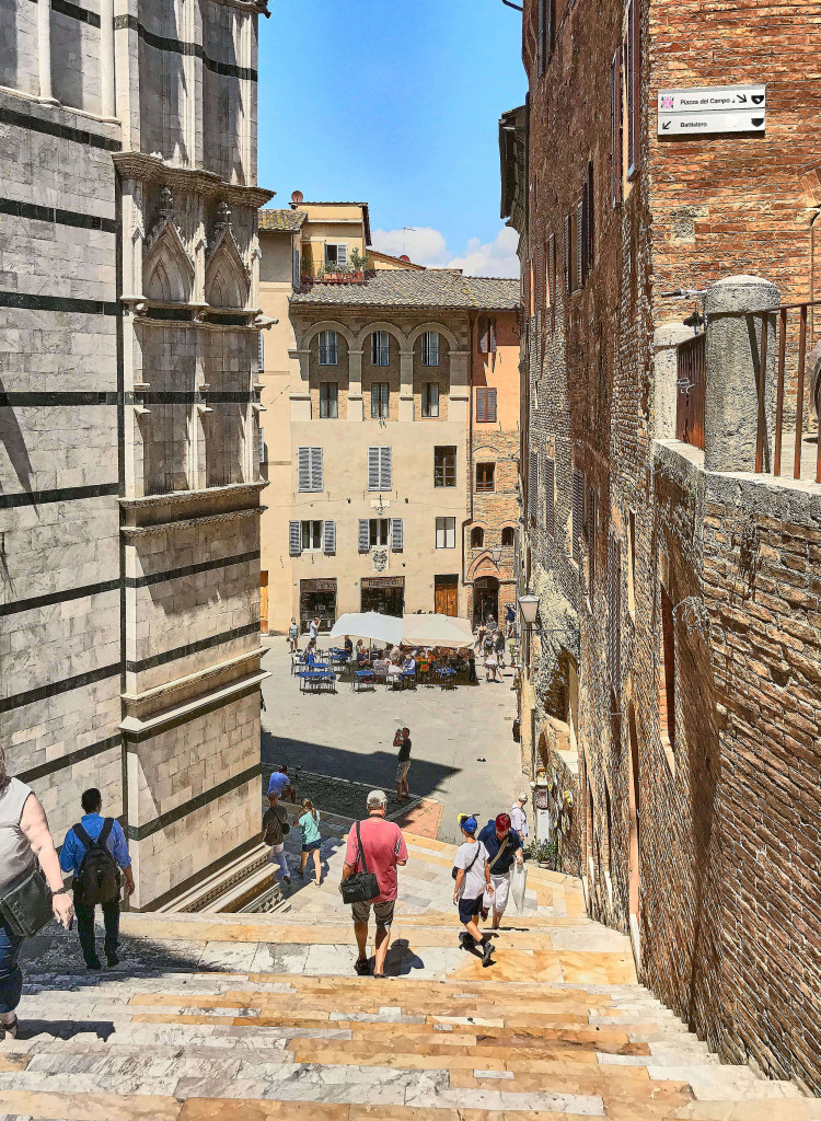 Old town of Siena Tuscany Italy
