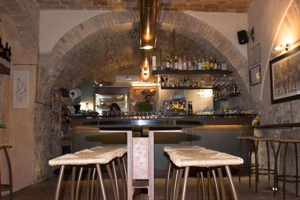 A Bar in San Gimigiano, Tuscany