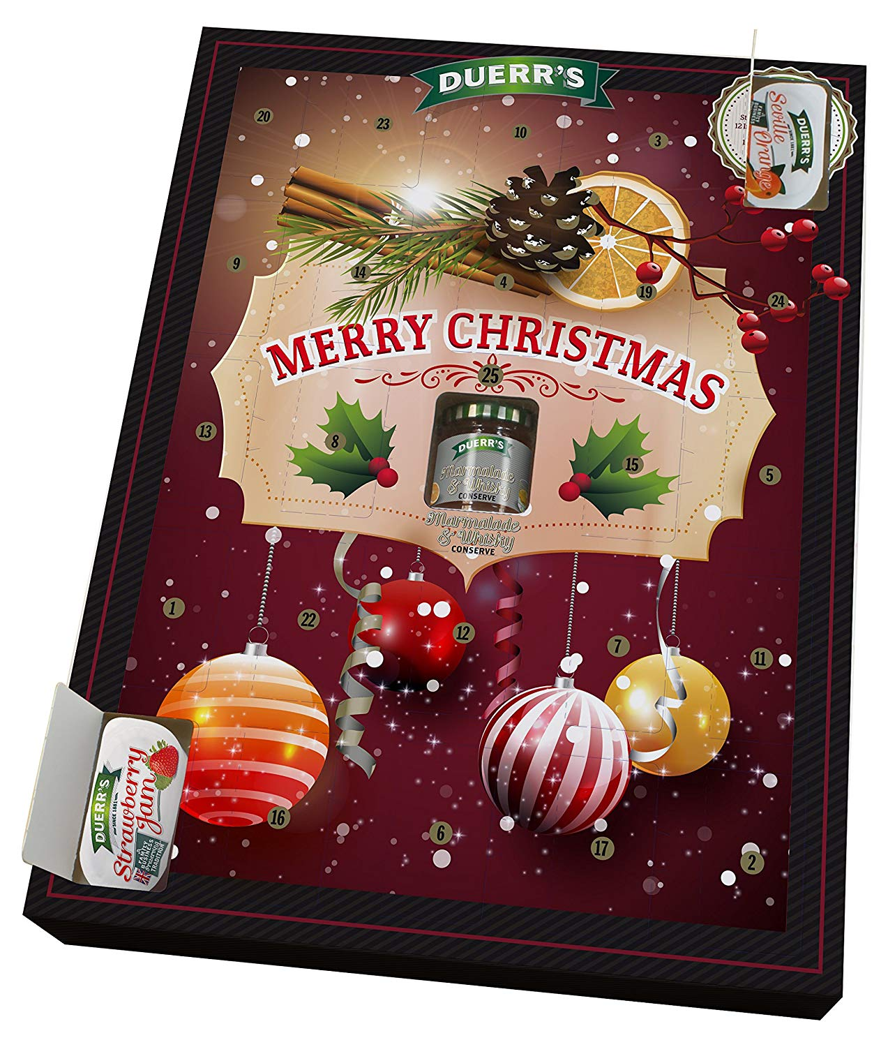 Official Duerr's Jam & Marmalade Individual Portions Festive Merry Christmas Advent Calendar