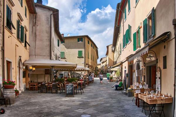 Centre of Castellina-in-Chianti
