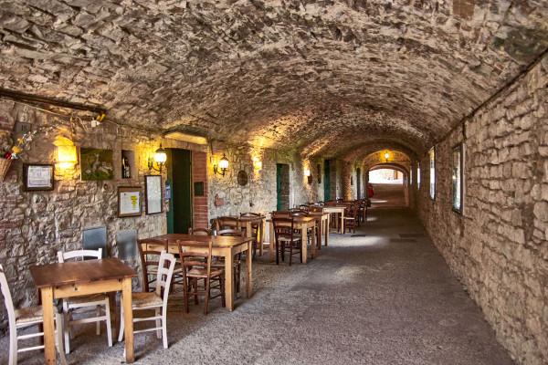 The underground tunnel in Castellina in Chianti