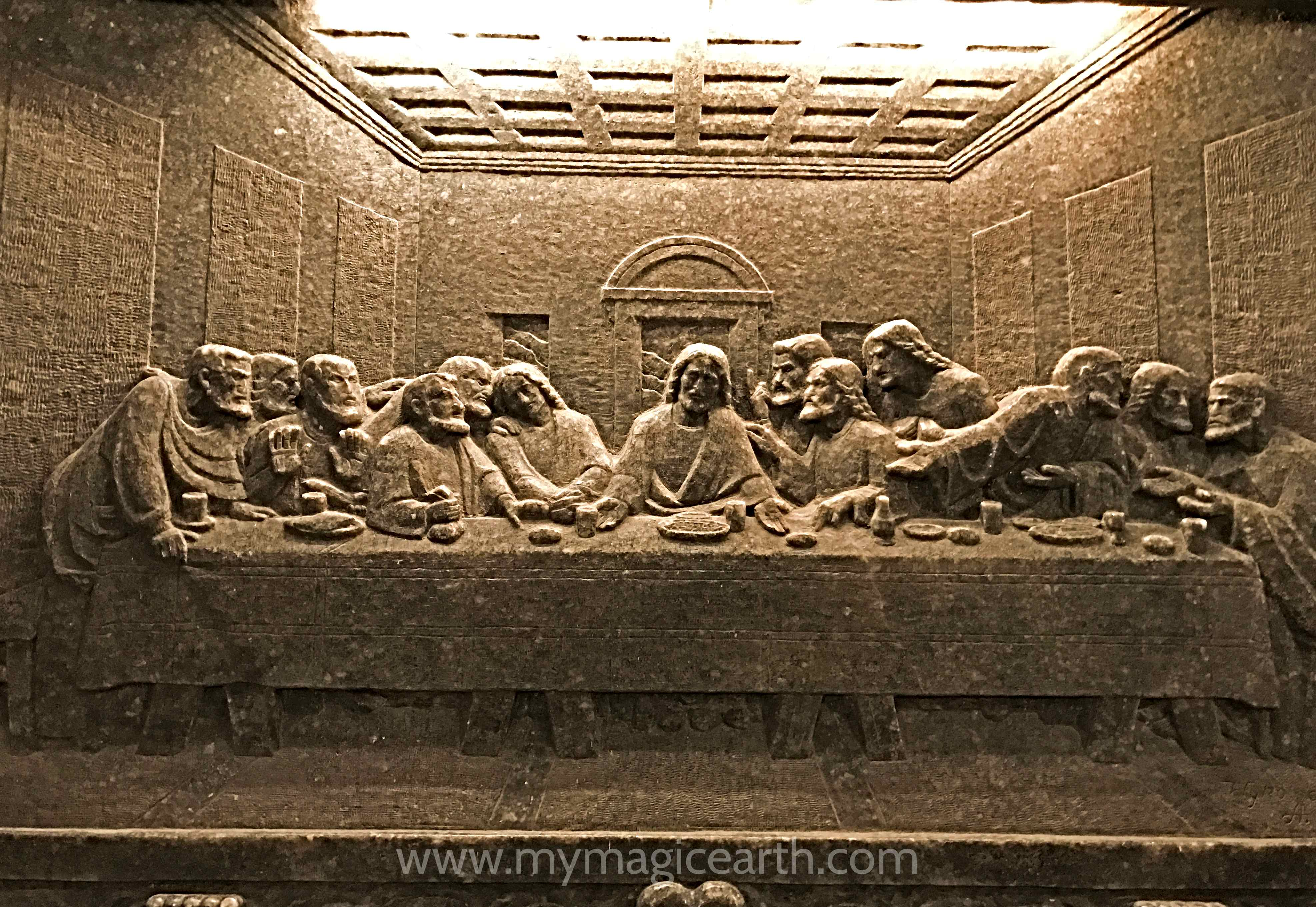 Bas Relief of the Last Supper at Saint Kinga's Chapel