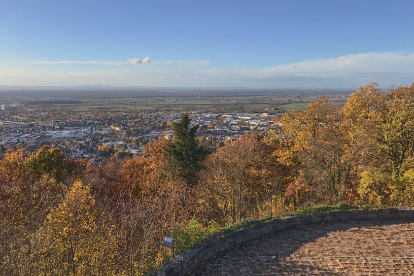 view of Weinheim and the surrounding valley;Weinheim, a City with Two Castles