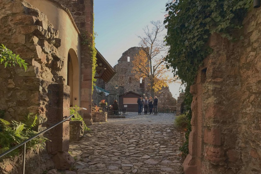 The entrance of the Windeck Castle, Weinheim; day trip from Frankfurt
