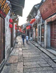 Pedestrain street in Xitang water town