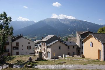 The houses in Mont Louis, Pyrenees, France