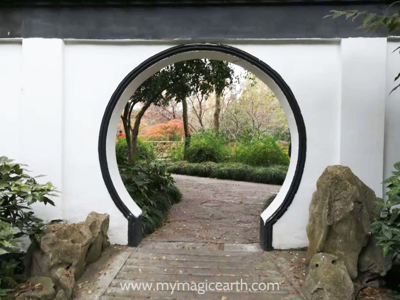 Garden behind the Round Door in Guilin Park, Shanghai