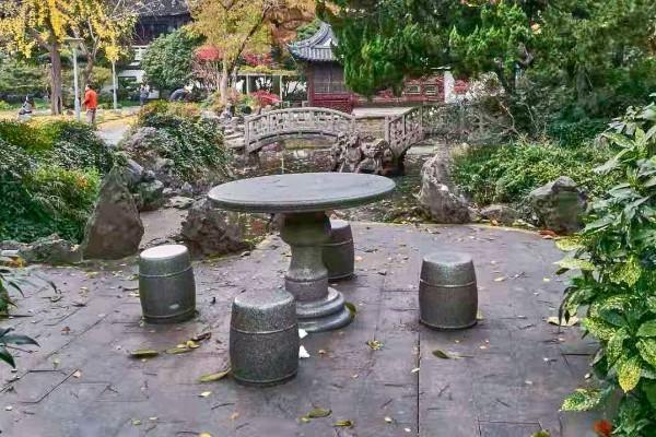 Stone table set
