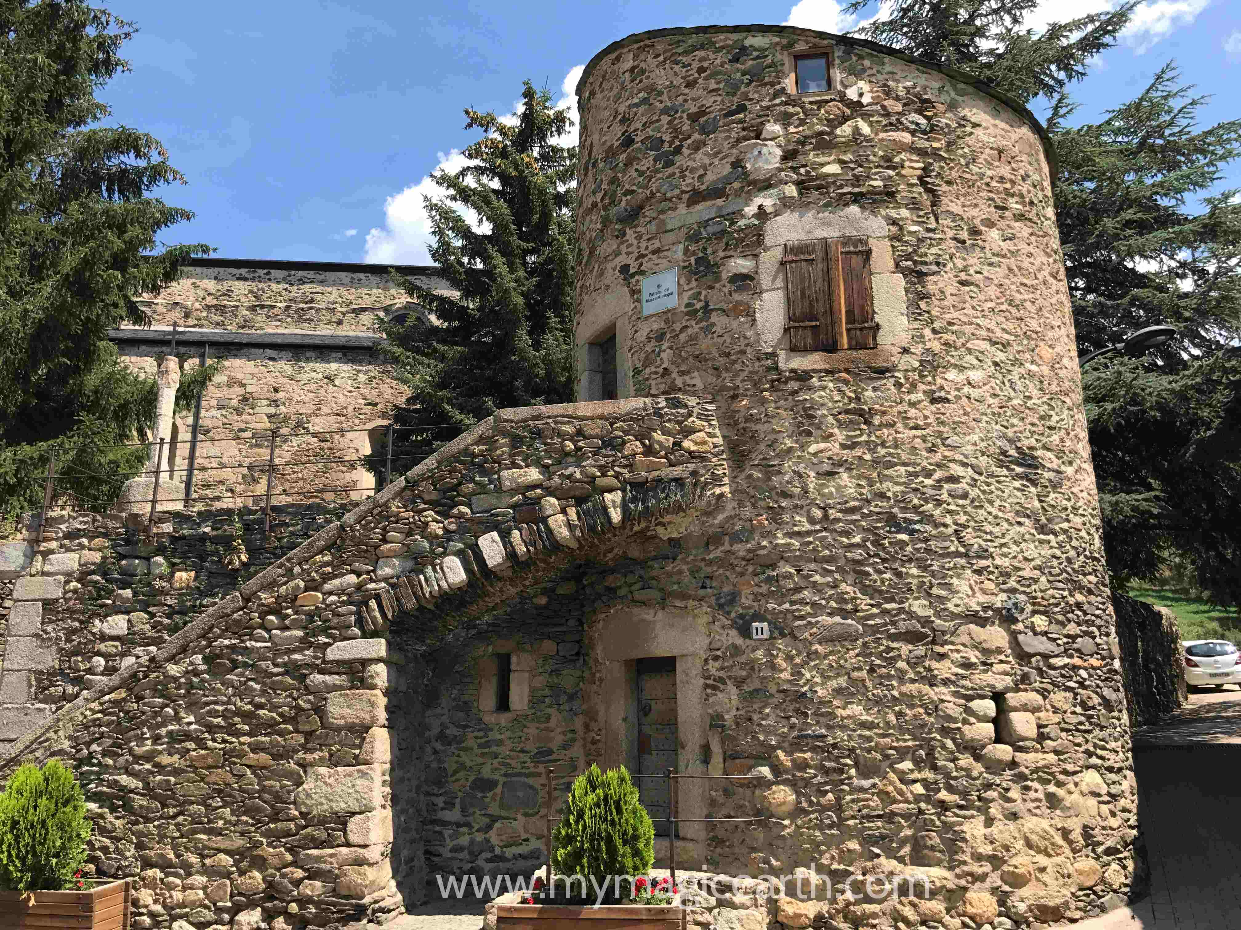 Castle in Llivia, Spain