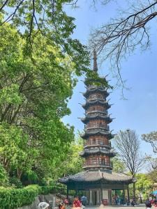 Xiudaozhe Tower, West Sheshan Park, Songjiang Shanghai