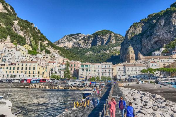 The marina of Amalfi, Italy