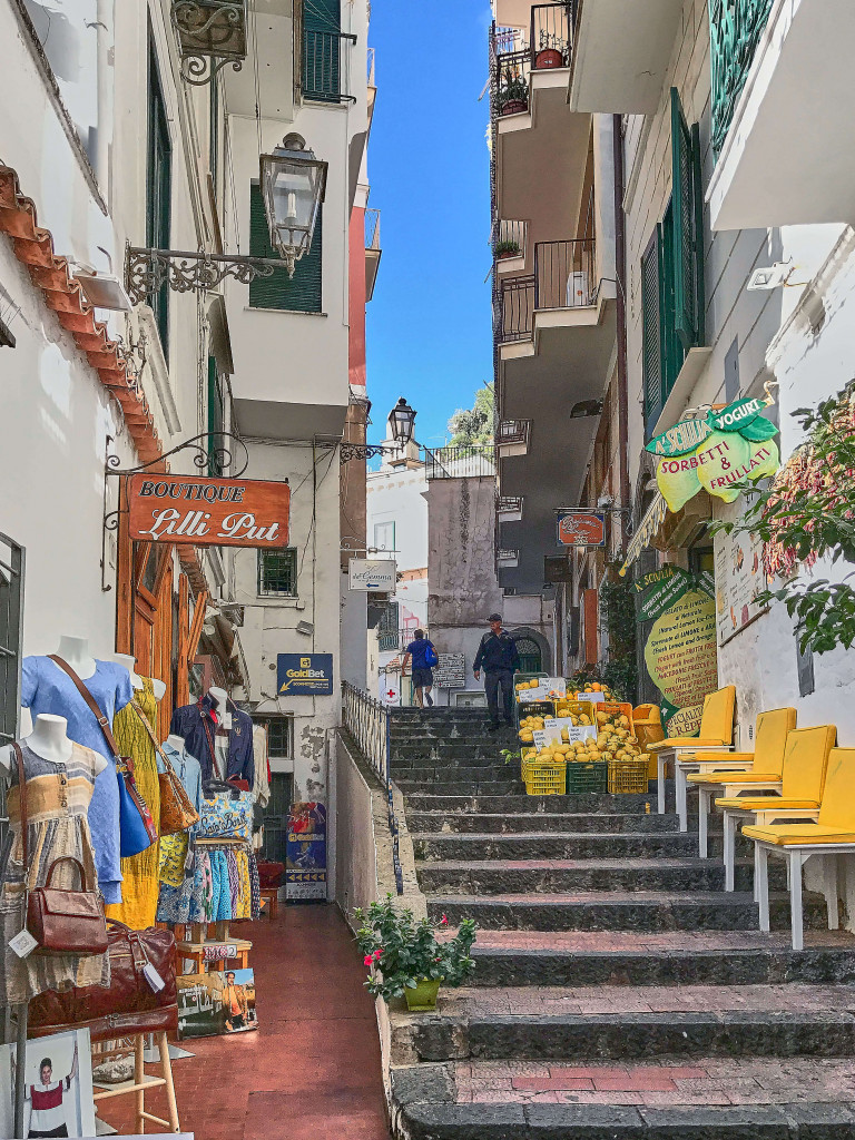 Amalfi's traditional streets and alleys