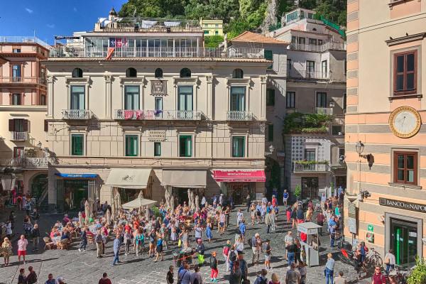 The main square in Amalfi