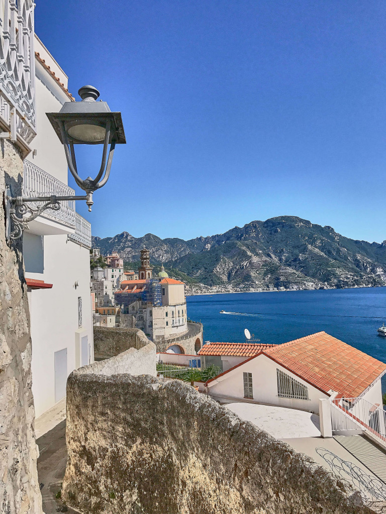 View from the cliff walk from Amalfi to Atrani, Italy