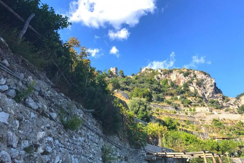 hiking rail in Atrani; things to do in Atrani; Amalfi Coast;