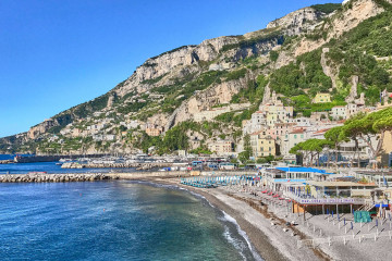 The view of the Amalfi town
