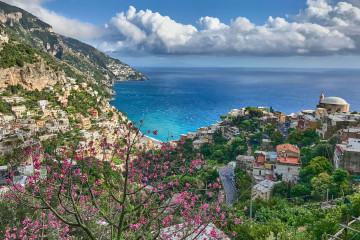 View over the entire Positano; Amalfi Coast
