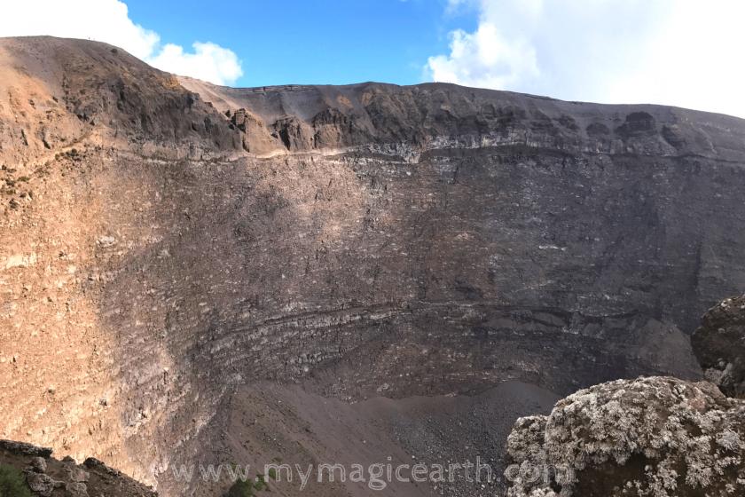 Crater of Vesuvius Volcano, Italy