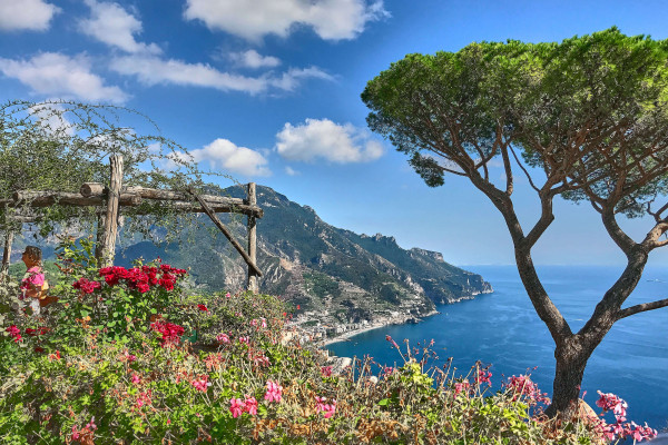 Terrace of Villa Rufolo; Amalfi coast itinerary