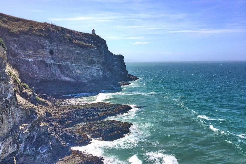 Enjoy ocean views at the headland of Otago Peninsula; Things to do on Otago Peninsular