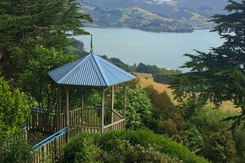 Views from the Larnach's Caslte Gardens, Dunedin, NEw Zealand