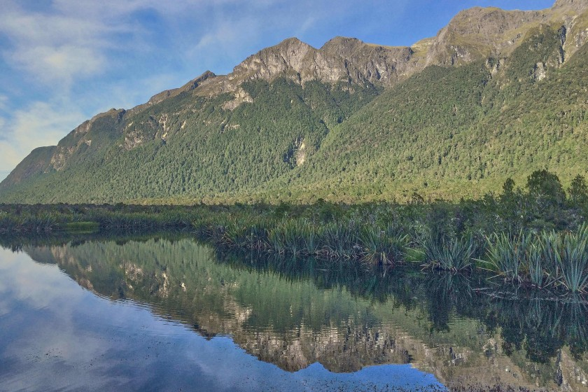Mirror Lakes; Day Trip from Te Anau to Milford Sound