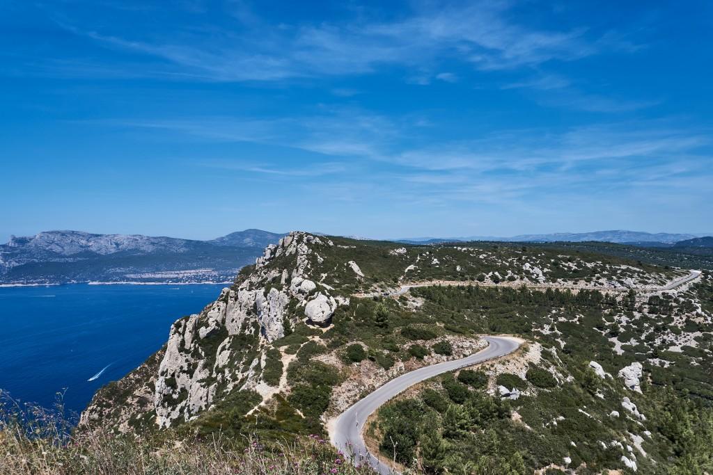 Route des Crêtes; Scenic coastal drive; Southern France